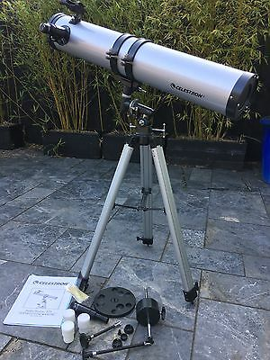 Celestron PowerSeeker 675 Telescope, set up but never used.