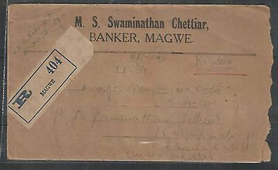 8a boat stamp on cover from magwe burma to india 1941  5.19.31