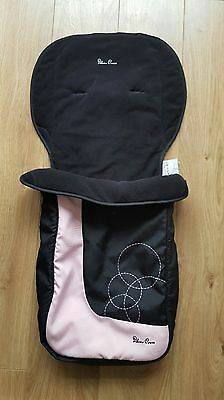 Silver cross pop footmuff Pink circles black FAST DISPATCH! cosy toes