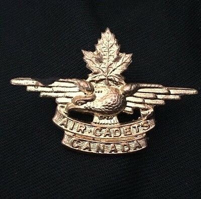 WWII RCAC ROYAL CANADIAN AIR CADETS collar dog badge WW2 Canada SCULLY