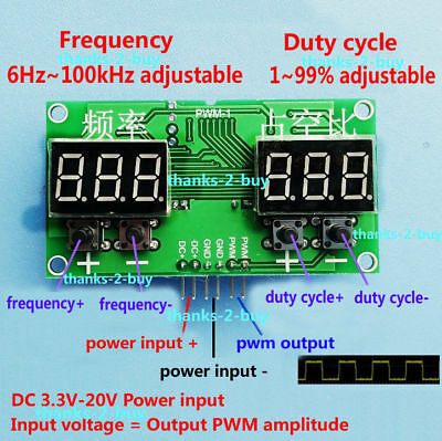 DC Square Rectangular Wave Signal Generator Stepper Motor Drive PWM Pulse Module