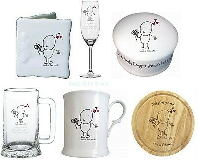 Personalised Novelty ENGAGEMENT Gift Ideas For Couple Congratulations On Your