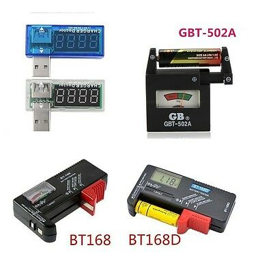 Universal AA AAA C D 9V 1.5V Button Cell Battery Volt Tester Checker Indicator S