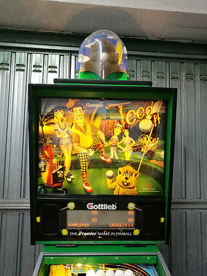 "Pinball Flipper ""tee'd Off"" With Topper ! Gottlieb Premier 100% Led - 100% Ok!"