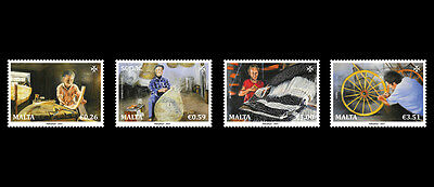 2017 Malta SEPAC Series - 'Traditional Handcrafts' set of four  Mint NH  VF