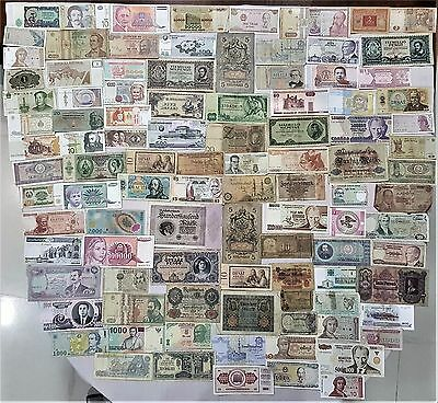 World Banknote collection. 100 Mixed. Many Old.All my collections Different #24