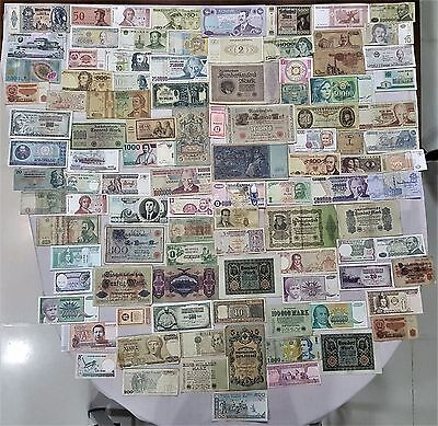 World Banknote collection. 100 Mixed. Many Old.All my collections Different #26