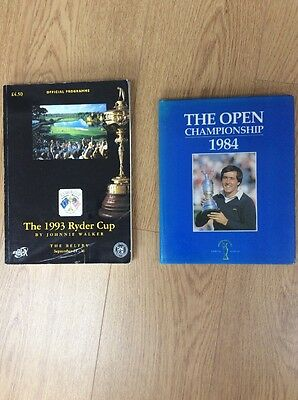 Golf Memorabilia The Open 1984 The Ryder Cup 1993