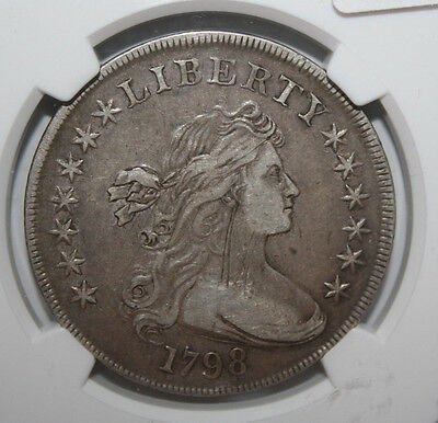 1798 Large Eagle Dollar  Ngc Xf Details/obv Scratched   #003