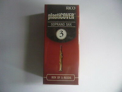 RICO PLASTICOVER- 5 Anches-reeds saxophone soprano- Force 3- NEW