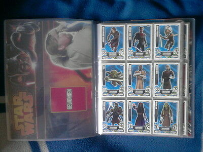 TOPPS FORCE ATTAX STAR WARS CLONE WARS Serie 4 ALLE 240 Cards KOMPLETT + MAPPE