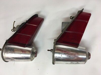 55 1955 Plymouth tail lights Taillight Pair Left Right Plaza Savoy Belvedere