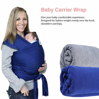 Durable Elastic Cotton Newborn Baby Carrier Wrap Solid Color Sling Wrap GT