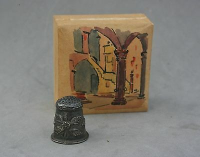 Taxco Mexico Sterling Silver Thimble Original Hand Painted Box 4 Gram Handmade