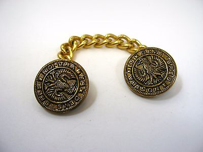 Vintage Jewelry Linked Chain Buttons Spes Nostra Es Devs Latin