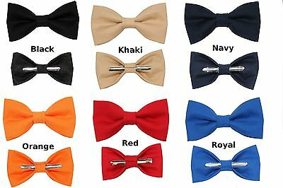 Choose 1 New Clip On Cotton Bow Tie ~ Men's Big & Tall Boys or Toddler Size