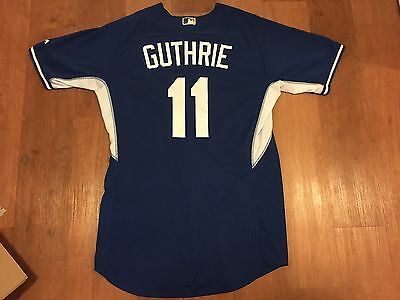 Jeremy Guthrie Game Issued Non Used 2015 Bp Kc Royals Mormon Jersey Mlb Coa