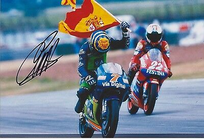 EMILIO ALZAMORA x2 AUTHENTIC HAND SIGNED 12x8 PHOTO MOTO GP see listing gallery