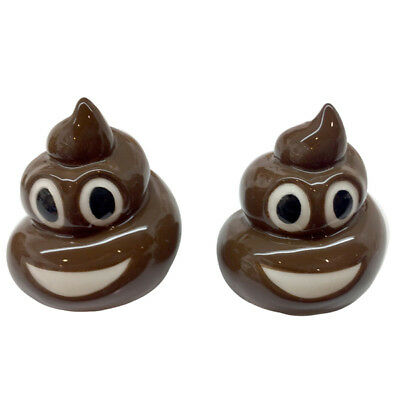 Puckator Emotive Poo Salt and Pepper Set Novelty Salt Pepper Shakers Poo Emoji