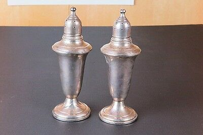 Antique Sterling Silver Empire Weighted Salt n' Pepper Shakers (Set)