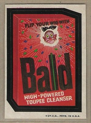 Trading Card Sticker 1970's Wacky Packages Bald Toupee Cleanser Brown Back