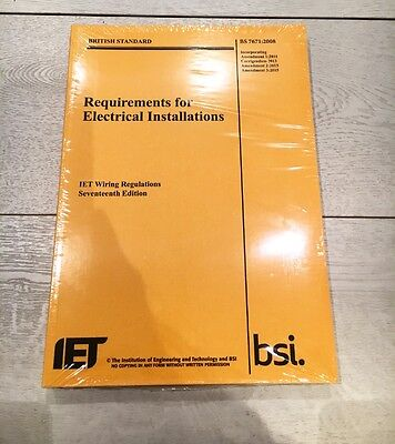 IET Requirements for Electrical Installations Wiring Regulations Book New