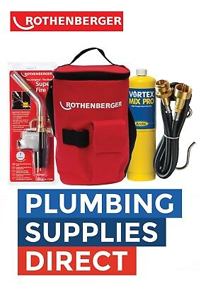 * Rothenberger Hot Bag With Superfire 2 Torch / Mapp Gas / Extension Hose - NEW