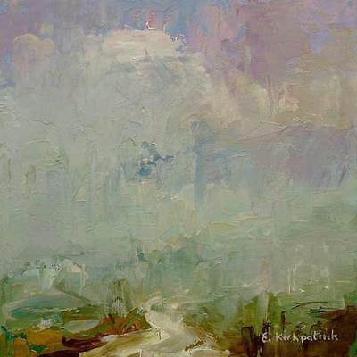 Framed original abstract landscape in oil Not a Print abstract