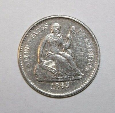 1865-S Seated Half Dime H50