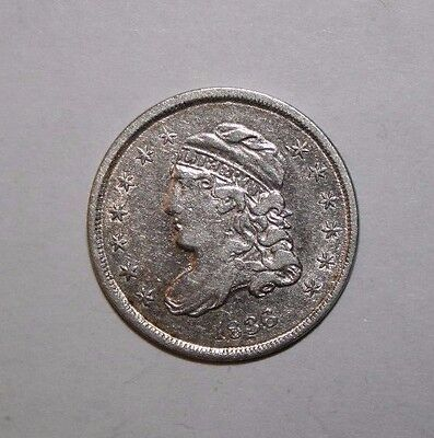 1836 Capped Bust Half Silver Dime D73