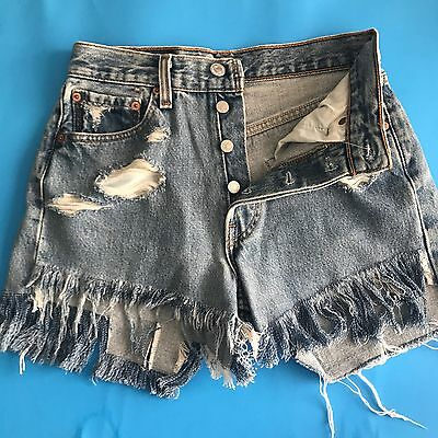Levi's 501 High Waisted Cut Off Vintage Jean Shorts