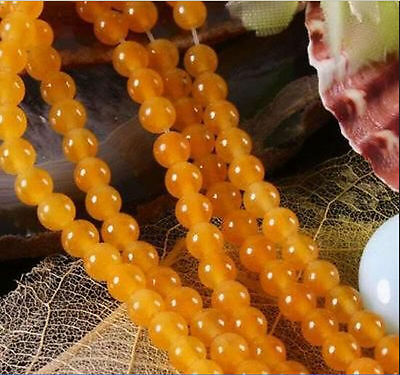"6mm Yellow South America Topaz Gems Loose Beads 15""AAA"