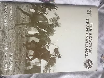 grand national signed race card 1991