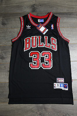 Scottie Pippen Black 33 Chicago Bulls Throwback Swingman Jersey Basketball NWT