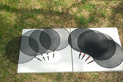 "4 Single & 4 Double Net Scrim 10"" circular"