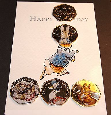 Beatrix Potter COLOUR Full Set 50p Coin Peter Rabbit Jemima Nutkin*Father's Day