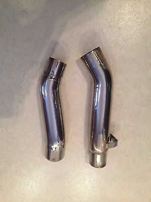 Kawasaki Z1000SX Z1000 SX 10-17 Stainless Exhaust End Can Link Pipes