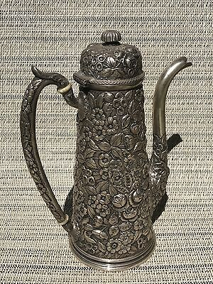 Stieff Baltimore Sterling Silver Repousse Hot Chocolate Pot Pre Stieff BSS Co.