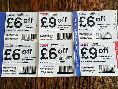 Tesco Coupons, Vouchers £33