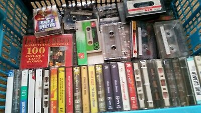 ** Large Mixed Lot Of Cassette Tapes **