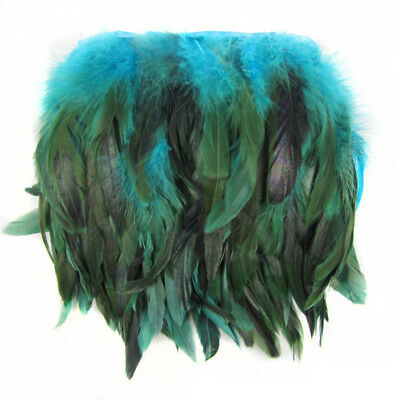 Rooster Hackle Coque Feather Fringe Craft Trim Sewing Millinery 0.3/1/5M