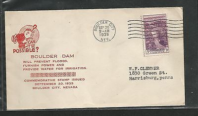 R320) Boulder Dam Scott 774 Humorous First Day Cover