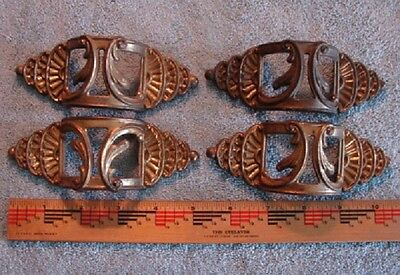 Vintage Decorative Metal Drawer Pulls Handles Set of 4
