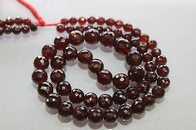 hessonite garnet faceted roundelle beads size approx 4.5x8mm length 16 inch .