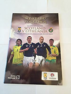 SCOTLAND v LITHUANIA 2011/12