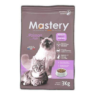 Mastery Cat Food Adult Fish, Dry Food for Increased from Cats - 3kg
