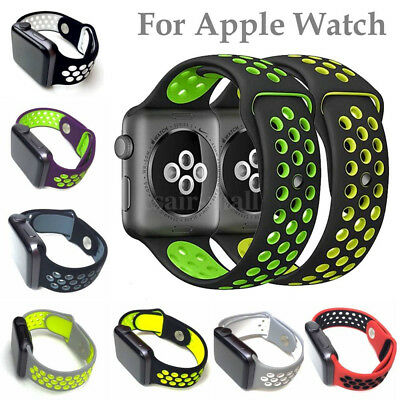 Replacement Sports Silicone Nike Strap For Apple Watch iWatch Band Series 2 /1