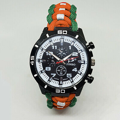 Paracord Watch with Irish Army (IA) Colours a Great Gift