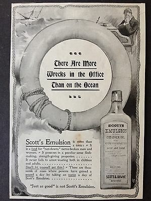 Antique 1896 Ad (1800-9)~Scott's Emulsion Of Pure Cod Liver Oil.