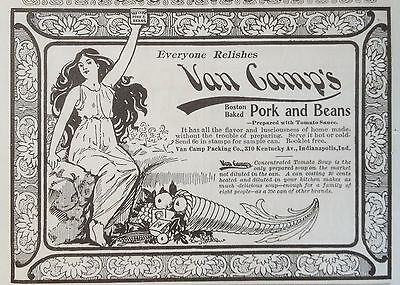 Antique 1898 Ad (1800-17)~Van Camp's Boston Baked Pork And Beans